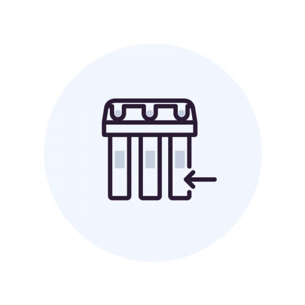 Установка фильтра Аквафор с отдельным краном